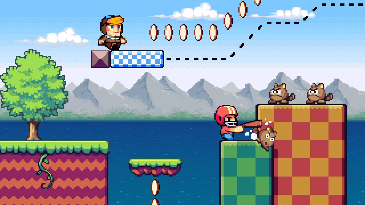 Buck and Miles making their way through a level.